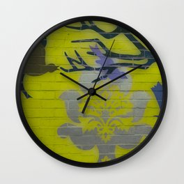 Wall Art Remix Yelllow Wall Clock