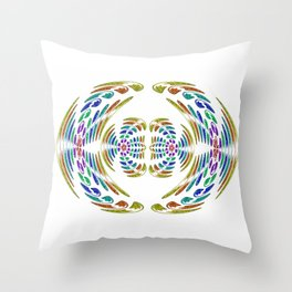 Wings yellow Throw Pillow