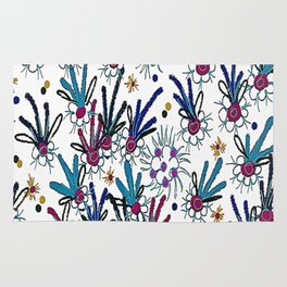 abstract flower meadow Rug