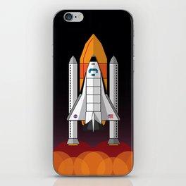 Space Shuttle night launch iPhone Skin