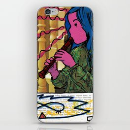Alice Charms the Flamingos in Defiance of the Queens iPhone Skin
