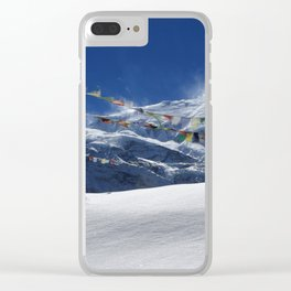Prayer Flags At The Pass Clear iPhone Case