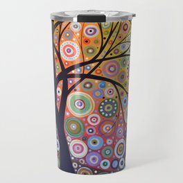 Abstract Art Landscape Original Painting ... Magic Garden Travel Mug