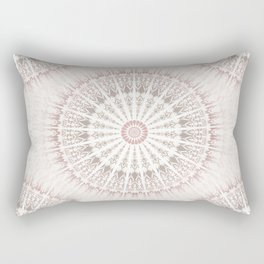 Cream Rose Mandala Rectangular Pillow