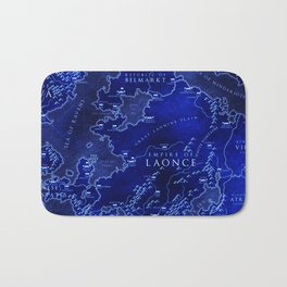 map blue Bath Mat