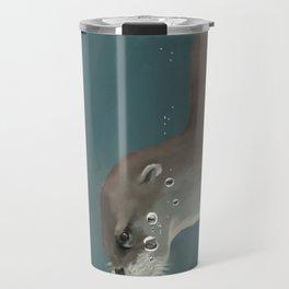 Otter in a Mangrove, Costa Rica Travel Mug