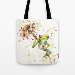 Hello There Bright Eyes (Green Tree Frog) Tote Bag