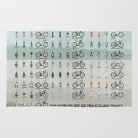 cycling Area & Throw Rugs featuring Pro Cycling Teams by Wyatt Design