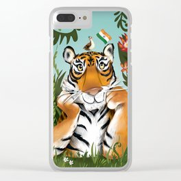 Bengal Tiger Clear iPhone Case