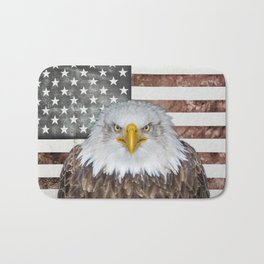 American Bald Eagle Patriot Bath Mat