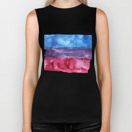 bisexual watercolor flag Biker Tank