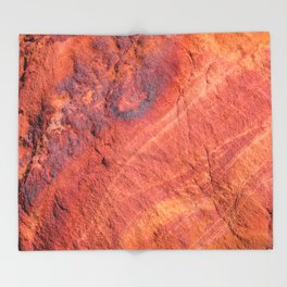 Natural Sandstone Art - Valley of Fire Throw Blanket