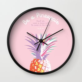 Stand tall! Wall Clock