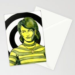 Yellow Girl I Stationery Cards