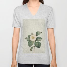 Vintag flower patter1 Unisex V-Neck