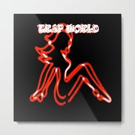 TRAP WORLD apparel - G Lady RED Metal Print