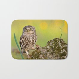 A little owl Bath Mat