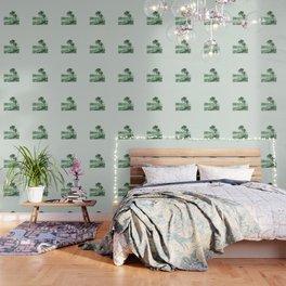 Vintage Lake Champlain  (Green) Wallpaper