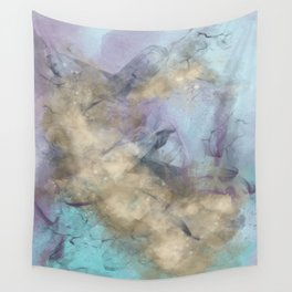 Teal, Purple, Gold Geode Wall Tapestry