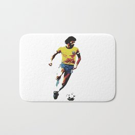 Socrates, Brazilian soccer superman Bath Mat