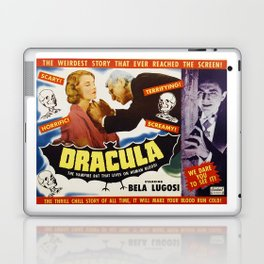 Dracula, Bela Lugosi, vintage horror movie poster Laptop & iPad Skin
