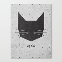 lady gaga Canvas Prints featuring MEOW by Wesley Bird