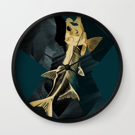 Catch the golden fish Wall Clock