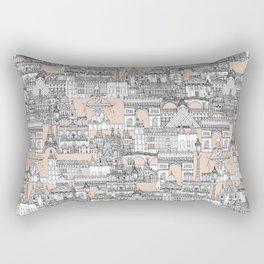 Paris toile sugar pink Rectangular Pillow