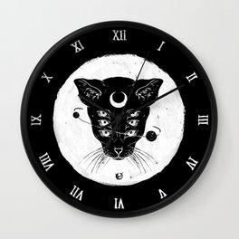Cat Moon Wall Clock