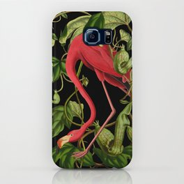 Flamingo Black iPhone Case