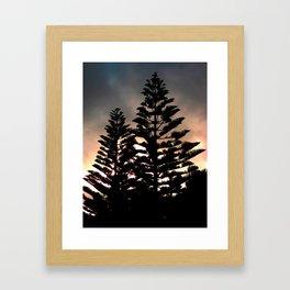 Tree at Dusk Framed Art Print