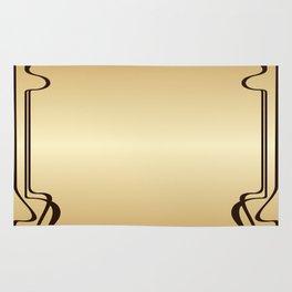 Golden Art nouveau Rug