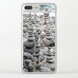 Balancing Rocks Clear iPhone Case