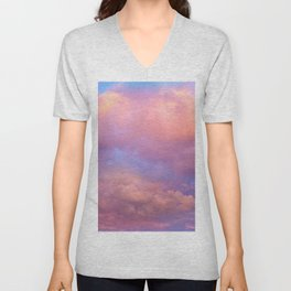 See the Dawn (Dawn Clouds Abstract) Unisex V-Neck