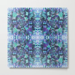 Abstract Floral Burst Metal Print