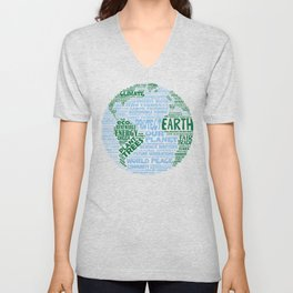 Protect Earth Word Bubble Unisex V-Neck
