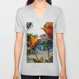 Dreamy Mexican Garden Unisex V-Neck