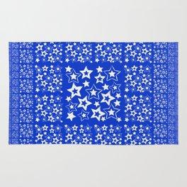 Stars on blue Background Rug