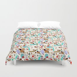 """Dialogue with the Dog - R01 - """"Friends"""" Duvet Cover"""