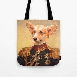 Corgi General Portrait Painting | Corgi Lovers! Tote Bag