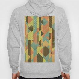 Squares Grids Stripes I (Modern Retro Color Palette) Hoody