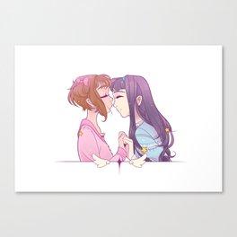 Sakura Smooches Canvas Print