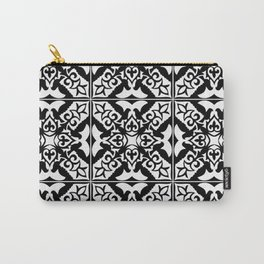Moroccan Tile Pattern in Black and White Carry-All Pouch