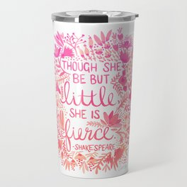 Little & Fierce – Pink Ombré Travel Mug