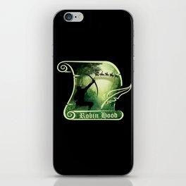 Robin Hood - Scroll - Green iPhone Skin