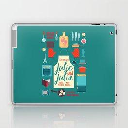 Julie and Julia, minimal movie poster, Meryl Streep, Amy Adams, Nora Ephron film, Julia Child, cook Laptop & iPad Skin