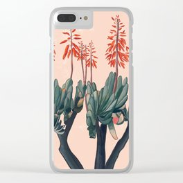 A blooming Plant Clear iPhone Case
