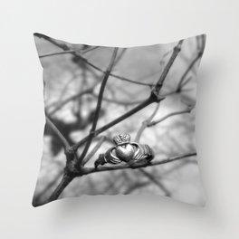 Claddagh Ring Throw Pillow