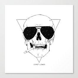 Smokes & Skulls Canvas Print