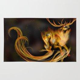 Fire elemental stag Rug